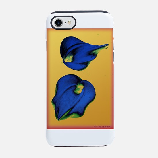 Abstract Calla Lilies in Blue and Gold iPhone 7 To