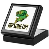 Bass fishing Square Keepsake Boxes