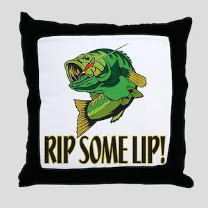 Rip Some Lip Throw Pillow