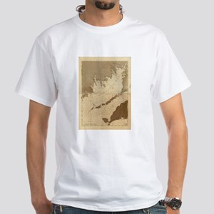 Vintage Map of Buzzards Bay (1776) T-Shirt