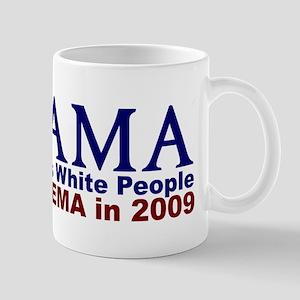 Obama Hates White People Mug