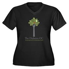 Diabetes OC Women's Plus Size V-Neck Dark T-Shirt