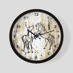 Equine Art Wall Clock