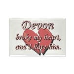 Devon broke my heart and I hate him Rectangle Magn