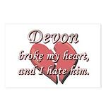 Devon broke my heart and I hate him Postcards (Pac