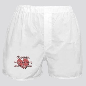 Devan broke my heart and I hate him Boxer Shorts