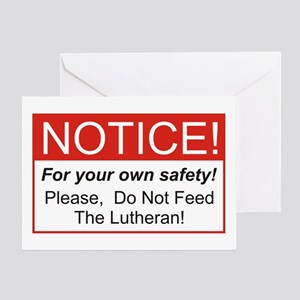 Notice / Lutheran Greeting Card