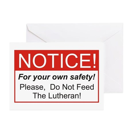 Notice / Lutheran Greeting Cards (Pk of 20)
