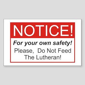 Notice / Lutheran Rectangle Sticker