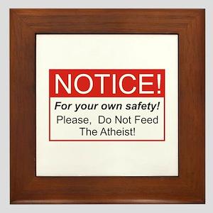 Notice / Atheist Framed Tile