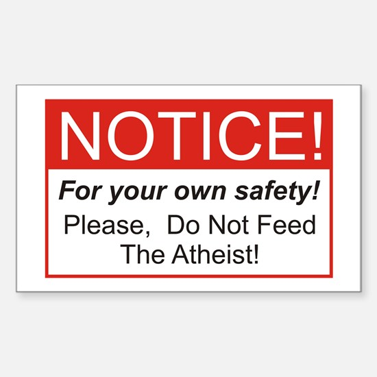 Notice / Atheist Rectangle Decal