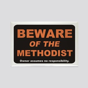 Beware / Methodist Rectangle Magnet