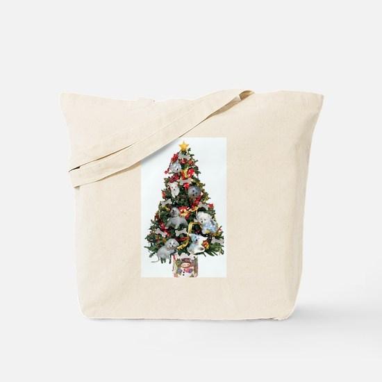 Merry Maltese Christmas Shop Tote Bag