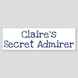 Claires secret admirer Bumper Sticker