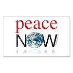 Peace Now Rectangle Sticker 50 pk)