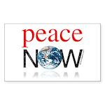 Peace Now Rectangle Sticker 10 pk)