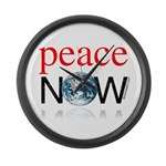 Peace Now Large Wall Clock