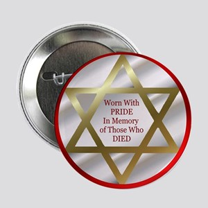 "Star of David 2.25"" Button"
