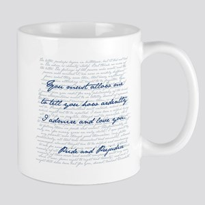 Pride and Prejudice Mr. Darcy Quote Mugs