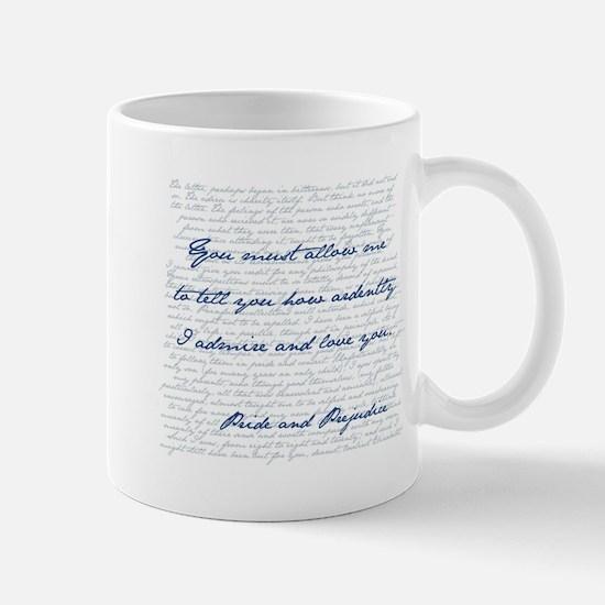 Pride and Prejudice Mr. Darcy Quote Mugs