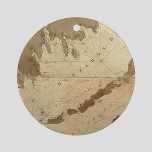 Vintage Map of Buzzards Bay (1776) Round Ornament