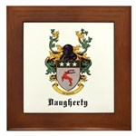Daugherty Coat of Arms Framed Tile