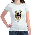 Daugherty Coat of Arms Jr. Ringer T-Shirt