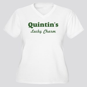 Quintins Lucky Charm Women's Plus Size V-Neck T-Sh