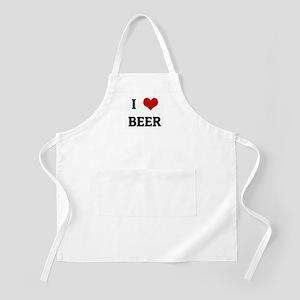 I Love BEER BBQ Apron