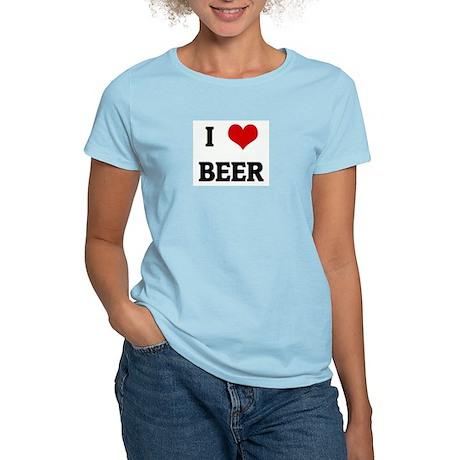 I Love BEER Women's Light T-Shirt