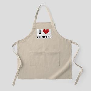 I Love 7th Grade BBQ Apron