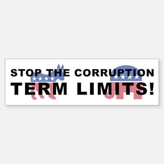 Stop Corruption - Term Limits 2 Sticker (Bumper)