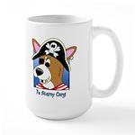 Cartoon Pirate Corgi Large Mug