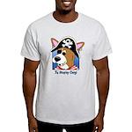 Cartoon Pirate Corgi Light T-Shirt