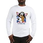Cartoon Pirate Corgi Long Sleeve T-Shirt