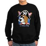 Cartoon Pirate Corgi Sweatshirt (dark)