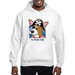 Cartoon Pirate Corgi Hooded Sweatshirt