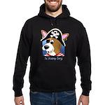 Cartoon Pirate Corgi Hoodie (dark)
