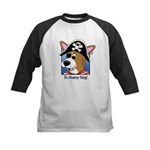 Cartoon Pirate Corgi Kids Baseball Jersey