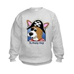 Cartoon Pirate Corgi Kids Sweatshirt