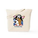 Cartoon Pirate Corgi Tote Bag