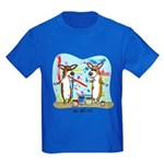 Painting Fun Corgis Kids Dark T-Shirt