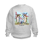 Painting Fun Corgis Kids Sweatshirt