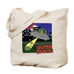 Corgi Alien Abduction Tote Bag