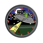 Corgi Alien Abduction Wall Clock