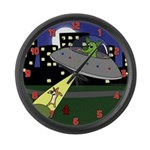 Corgi Alien Abduction Large Wall Clock