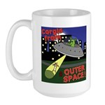 Corgi Alien Abduction Large Mug