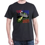 Corgi Alien Abduction Dark T Shirt