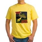 Corgi Alien Abduction Yellow T-Shirt