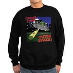 Corgi Alien Abduction Sweatshirt (dark)